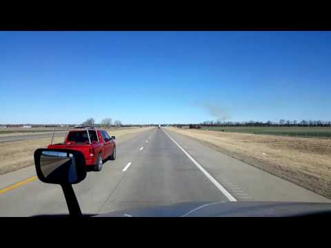 Bigrigtravels Live! - Newton to Fredonia, Kansas - US 400 - February 21, 2017