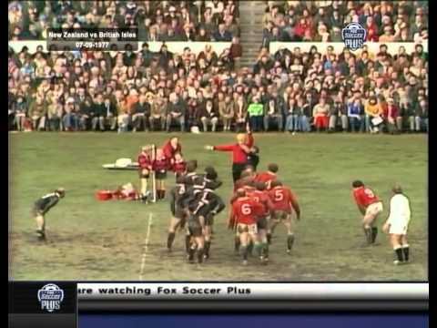 1977 Rugby Union Match: New Zealand All Blacks vs British and Irish Lions (2nd Test)