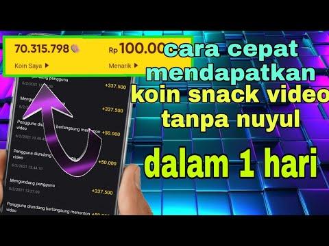 Cara Cepat Mendapatkan Banyak Koin Di Snack Video Mudah||snackvideo