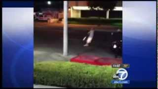 CA Santa Ana subdue man with swords 09 07 13