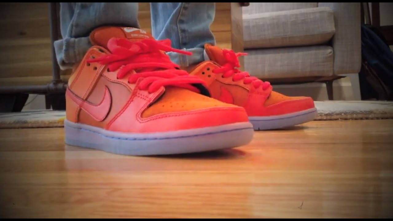 the latest 4f990 a6bea Nike Dunk SB Gamma Orange Fire   Ice Review   On Feet