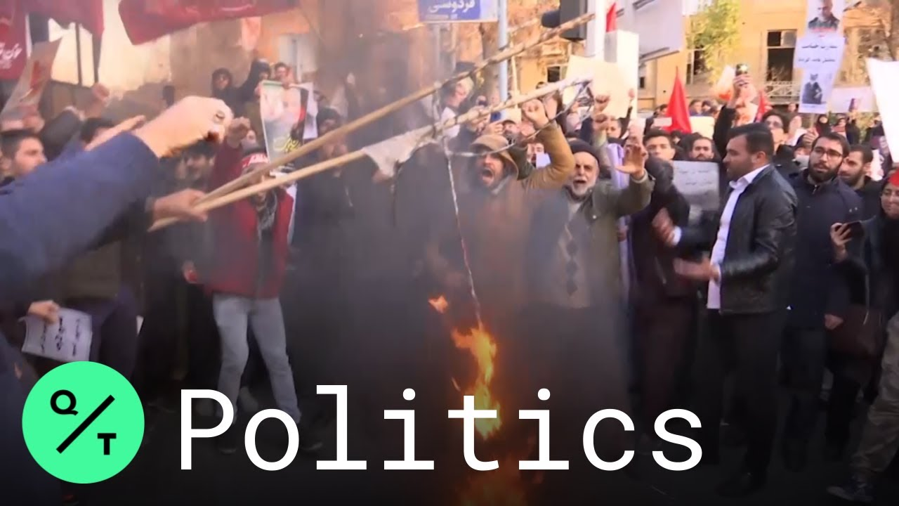 Tehran Protesters Call for Expulsion of U.K. Ambassador Outside British Embassy -
