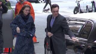 Leighton Meester and Ed Westwick Set of Gossip Girl 03/05/12 [HD]