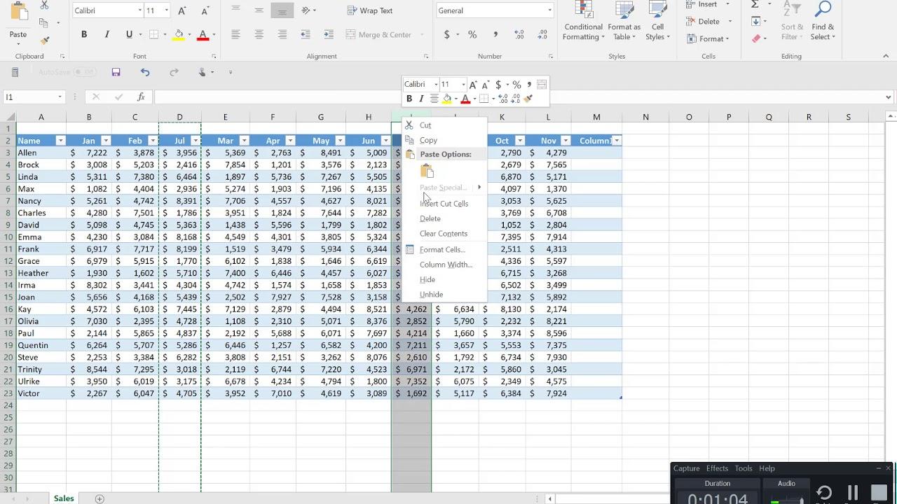Excel Objective 3 1 Practice Tasks