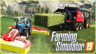 FARMING SIMULATOR 19 #16 - FALCIAMO E IMBALLIAMO FIENO - GAMEPLAY ITA