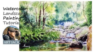 Landscape watercolor using sol…