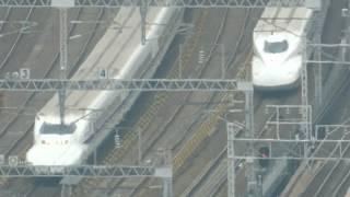 地上100メートルから望む名古屋駅に入線する東海道新幹線 700系&N700系 2019.2.9