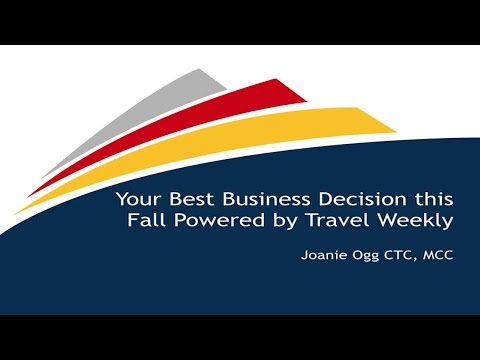 Your Best Business Decision this Fall Powered by Travel Weekly