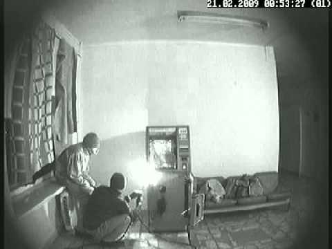 Ограбление банкомата съёмка из