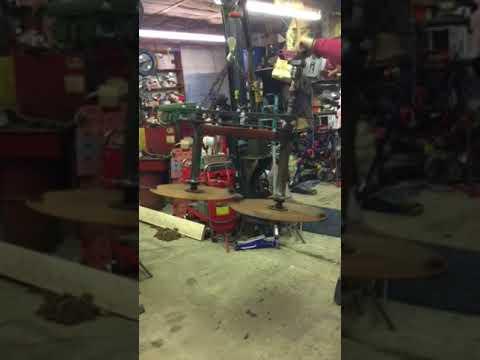 Testing my homemade drum mower