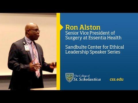 Sandbulte Center for Ethical Leadership Speaker Series: Ron Alston