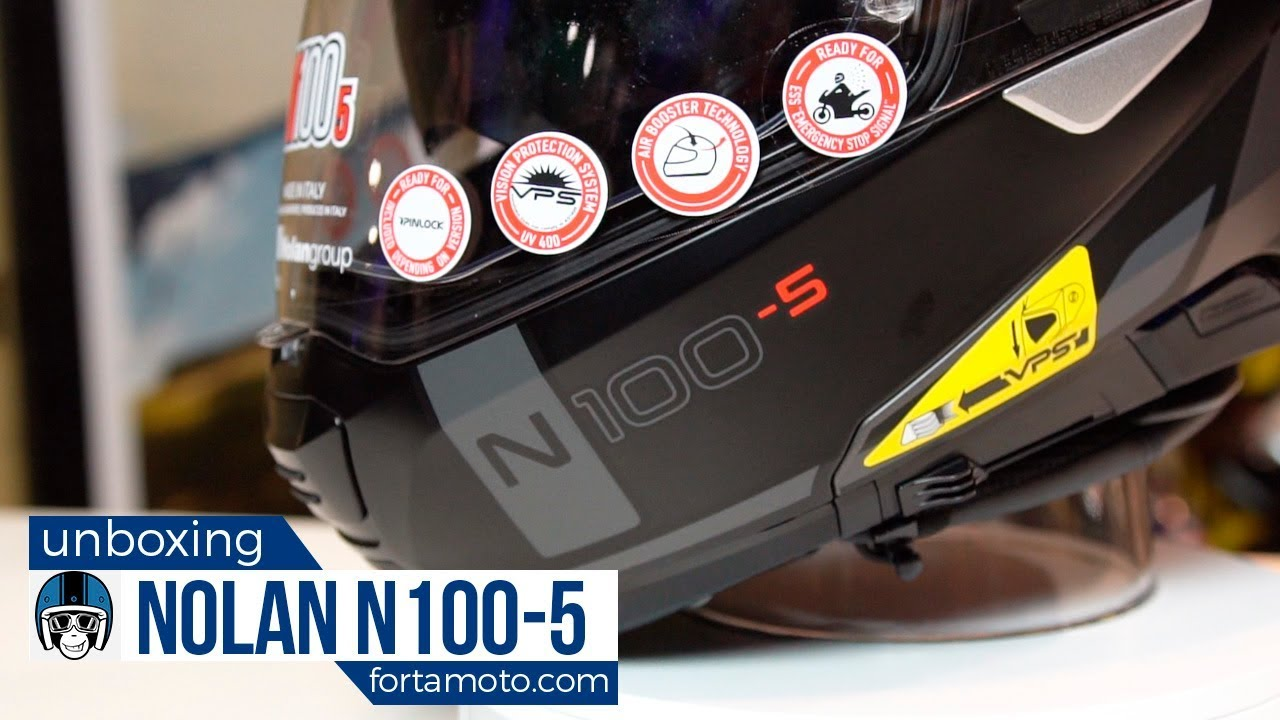 unboxing the nolan n100 5 motorcycle helmet review. Black Bedroom Furniture Sets. Home Design Ideas