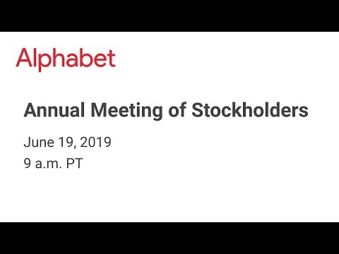 2019 Annual Meeting Of Stockholders