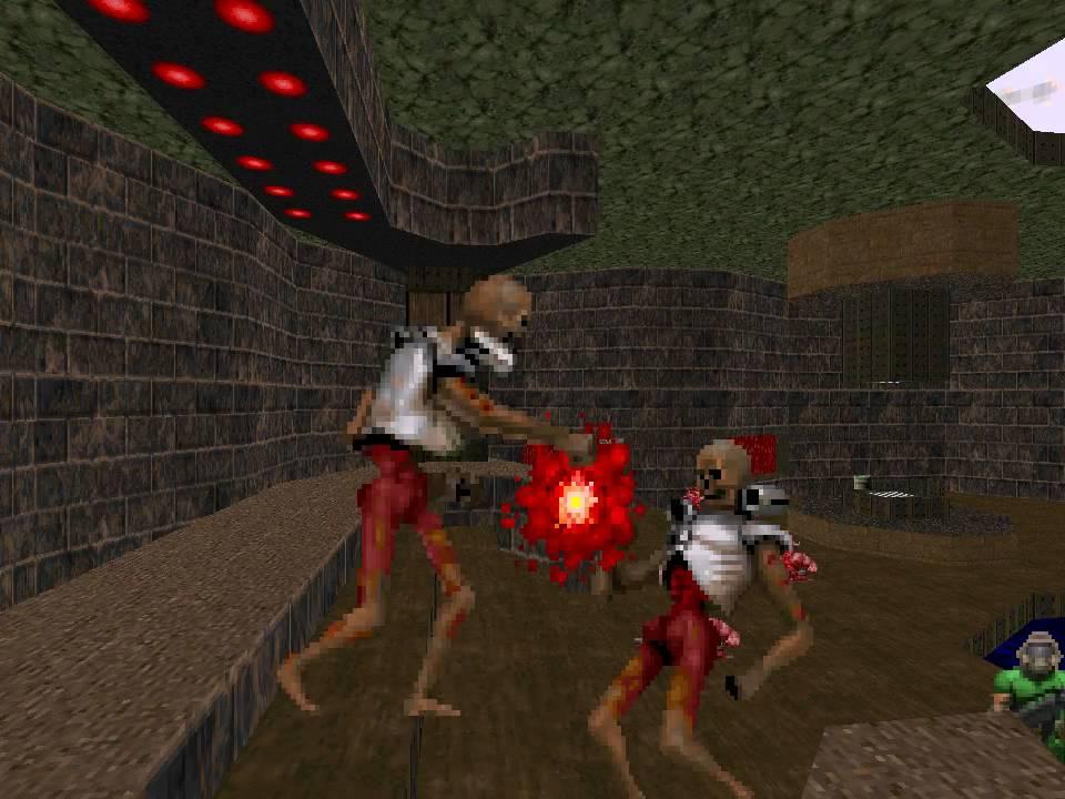 Two Revenants Fight In Final Doom Plutonia Youtube