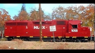 HLCX 1058 PULLING SHORT FREIGHT TRAIN