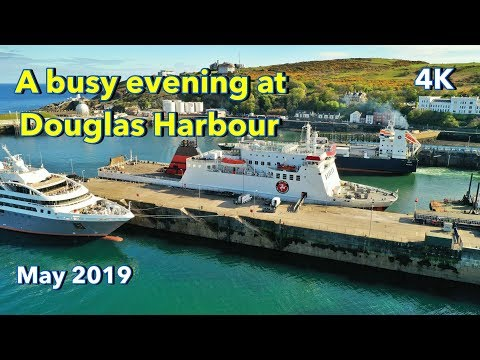 A busy evening at Douglas Harbour, Isle of Man. Featuring L' Austral, Ben My Chree and Arrow