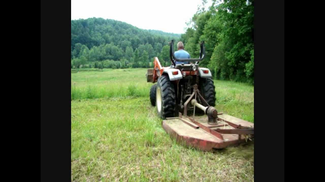Mowing With 6 Foot Brush Hog And 2002 Tafe 2800 Tractor