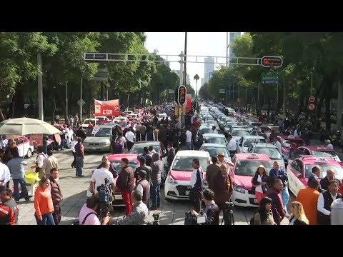 ا?ضراب جميع ساي?قي التاكسي في #المكسيك  - 16:55-2019 / 10 / 8