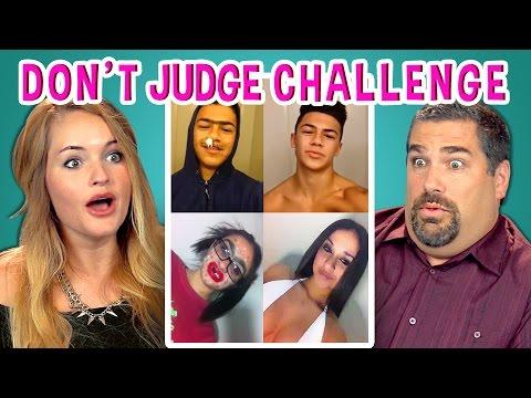 ADULTS REACT TO DON'T JUDGE CHALLENGE (#DontJudgeChallenge)