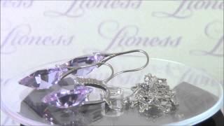 Набор бижутерии с кристаллами Swarovski