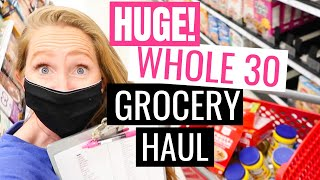 GIANT Whole 30 Monthly Grocery Haul | May 2020 ONCE A MONTH Costco Grocery Haul + Target Haul