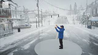 The Weather Channel Immersive Mixed Reality Ice Storm