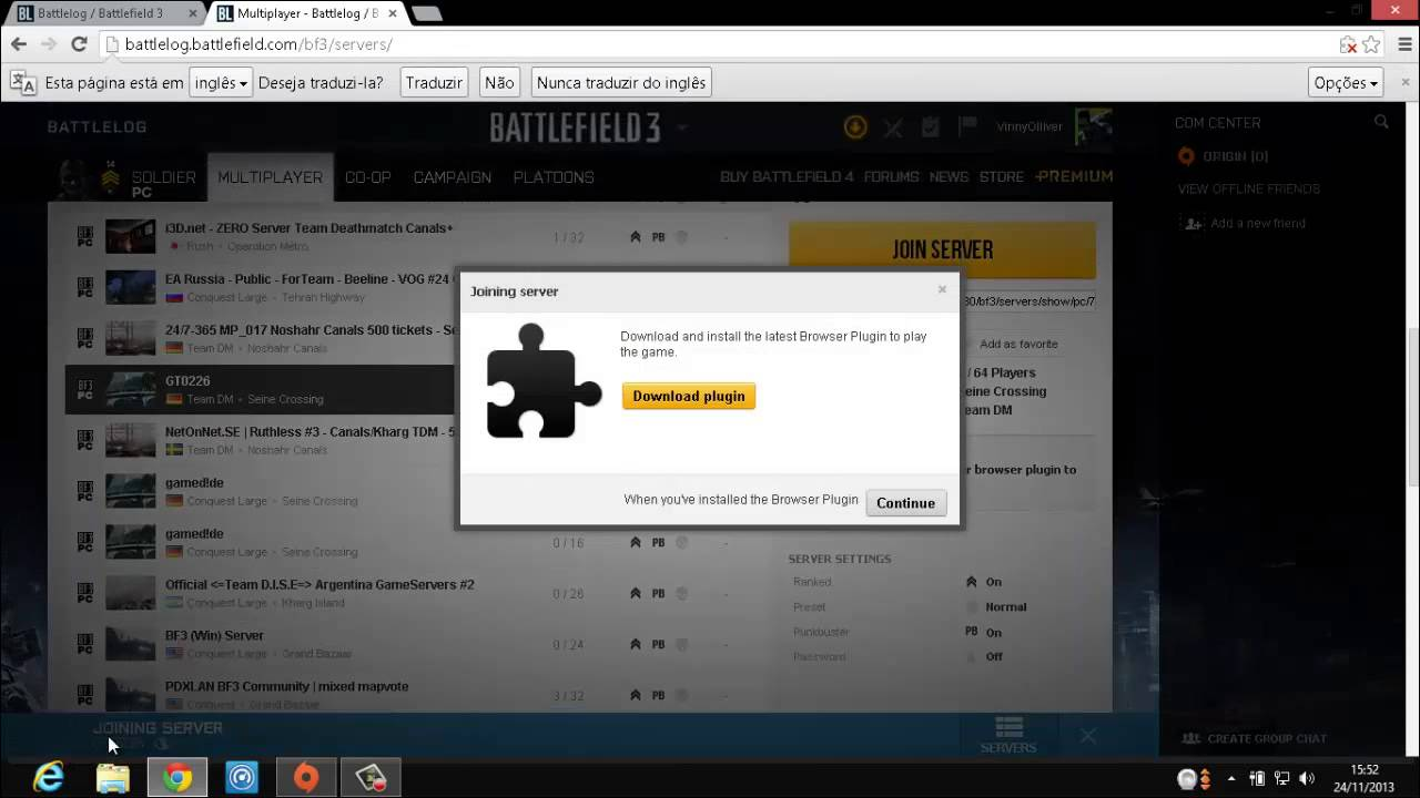 Battlefield 3 browser plugin download firefox.