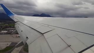 Horror Landeanflug Landung Crosswind Seitenwind Salzburg Sturm/Horror landing approach landing