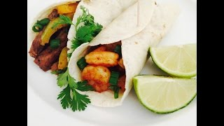 Cilantro & Lime Steak & Shrimp Fajitas, Cookin 4 Your Man