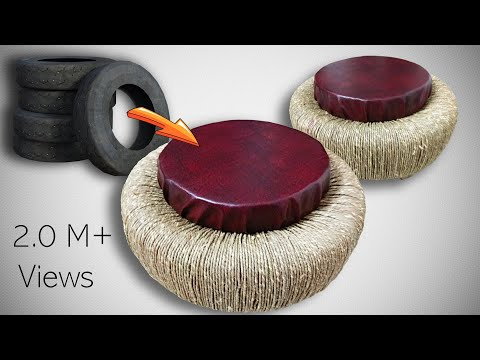 TRICK THE TRASH - Beautiful seats with the waste car tyres at Home. Subscribe to get ideas instantly