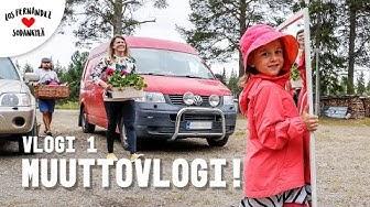 MUUTTOVLOGI - TÄÄLTÄ TULLAAN LAPPI! #vaihtovuosisodankylässä vlogi 1 (Lapland/ English subtitles)