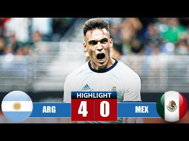 Argеntіnа vs Mеxіcо 4−0 Highlights & Goals | Resumen y Goles (11/09/2019)