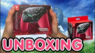 Xenoblade Chronicles 2 Limited Edition Nintendo Switch Pro Controller Unboxing !!