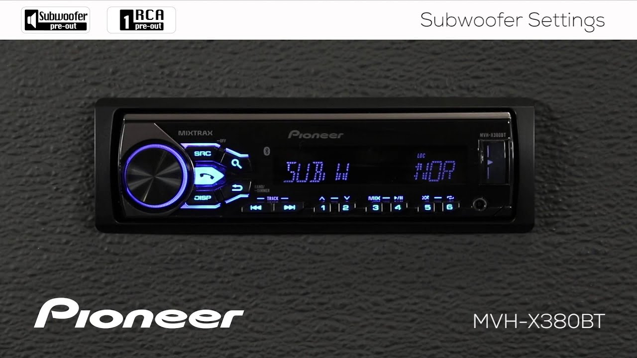 how to mvh x380bt subwoofer settings [ 1280 x 720 Pixel ]
