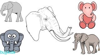How to Draw Elephant for Kids Easily | Learn to Draw Elephant