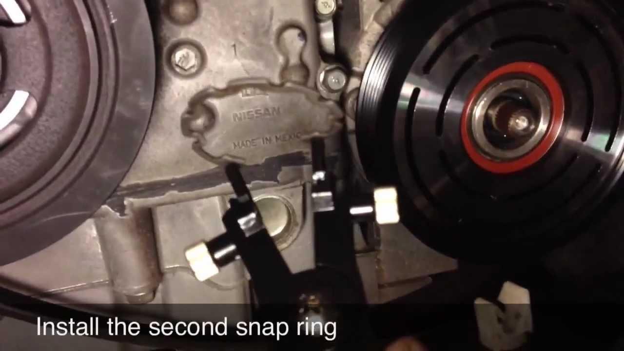 AC Compressor Clutch Repair  Replacement  Nissan Altima