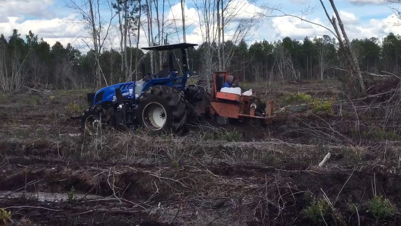 Planting Pines Trees With Whitfield Planter Youtube