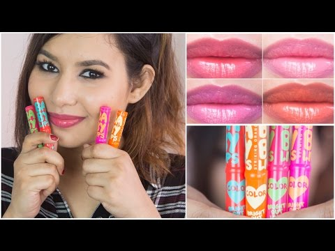 New Maybelline Baby Lips Bright Out Loud Review & Swatches | Sonal Sagaraya
