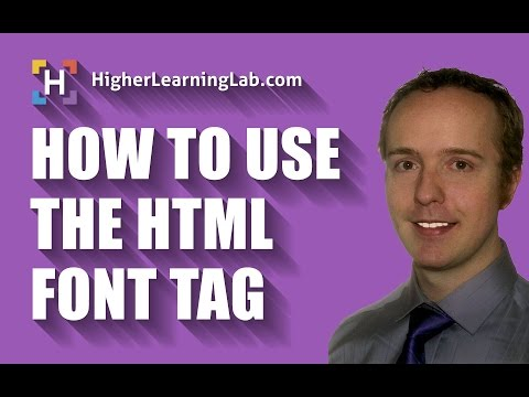 HTML Font Tag Is Not Supported By HTML5, So Use CSS Instead