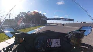 Supercharged 2018 Kawasaki Ninja H2 SX 288 km/u @ Circuit Estoril