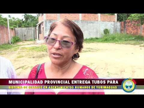 MPAA ENTREGA TUBO PARA SISTEMA DE DESAGÜE EN ASENTAMIENTOS HUMANOS DE YURIMAGUAS