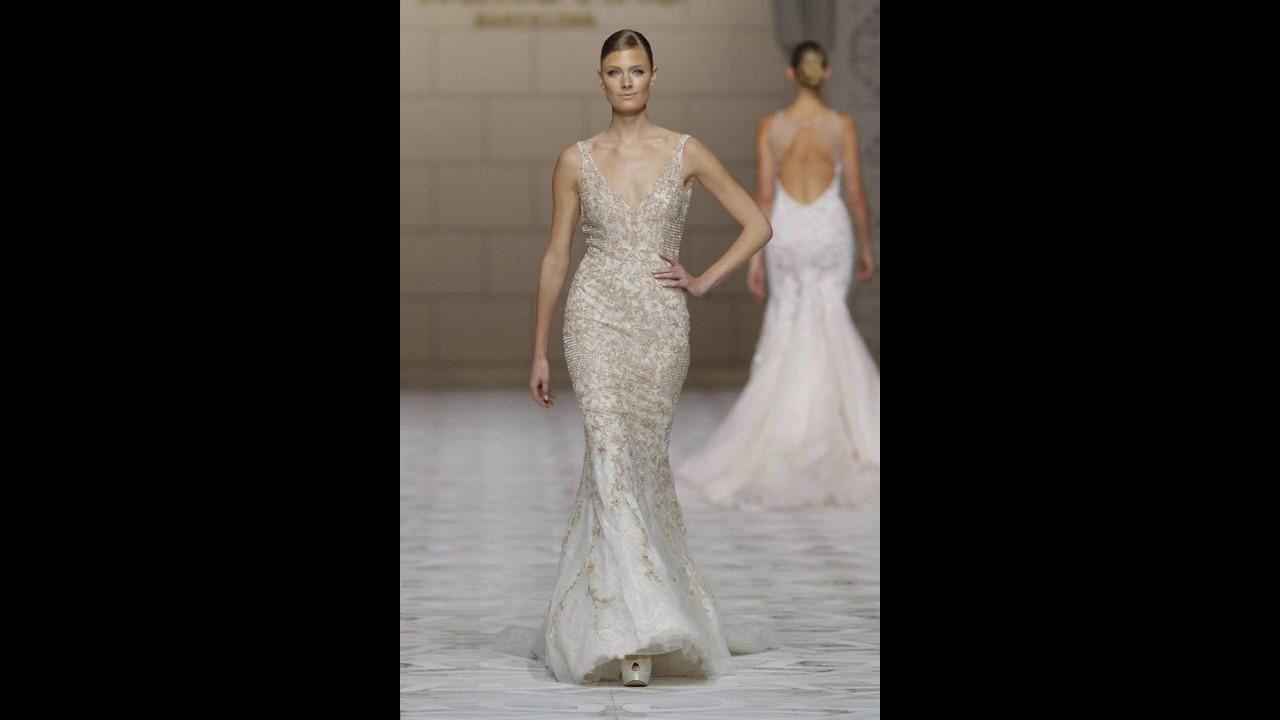 ad6f73b83 Los 40 mejores Vestidos de novia color perla - YouTube