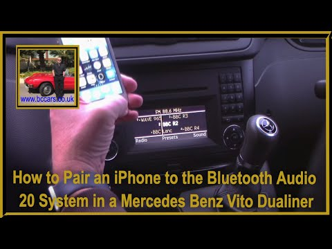 How to Pair an iPhone to the Bluetooth Audio 20 System in a Mercedes Benz Vito Dualiner