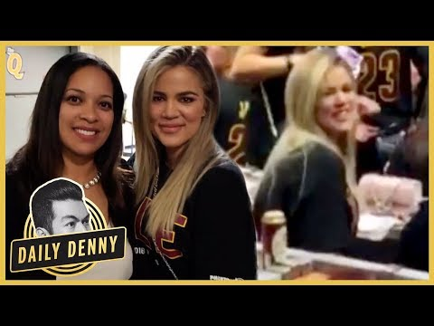 Khloe Kardashian Shows Up To Support Tristan Thompson At The NBA Finals | Daily Denny