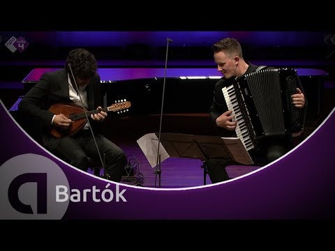 Bartók: Romanian Folk Dances (for mandolin and accordion) - Avi Avital and Martynas Levickis - HD