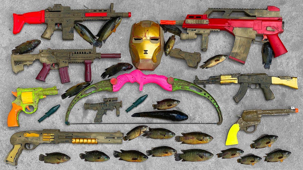 Realistic Guns & Weapons, Bow Arrow, UMP Submachine Gun, Scar AR Guns, AK47 Assault Rifle, Revolver