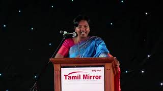Dr. Parveen Sultana at the Tamil Mirror Gala Night.2017