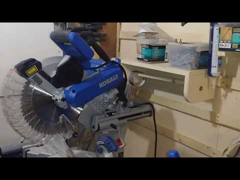 Kobalt Compound Miter Saw How To Square The Fence Youtube