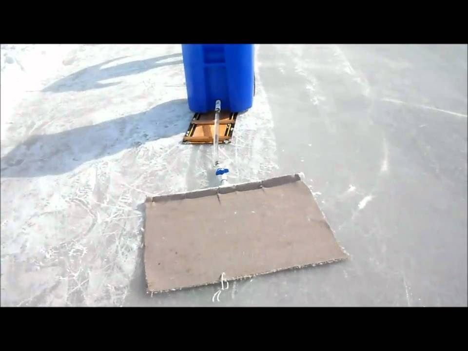 Homemade Zamboni (in action Pt. 1) - YouTube