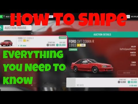 Forza Horizon 4 Everything You Need To KNOW For Auction House *** How To Snipe***